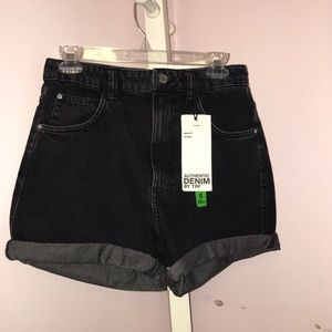Zara black denim shorts!